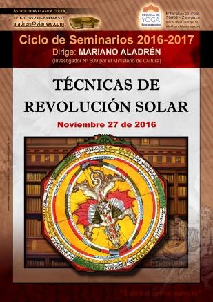 SEMINARIO técnicas de revolución solar 2016-2017 Astrología Clásica Culta Mariano Aladrén