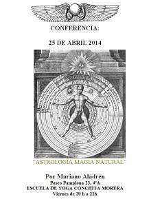 CONFERENCIA MAGIA NATURAL 2014