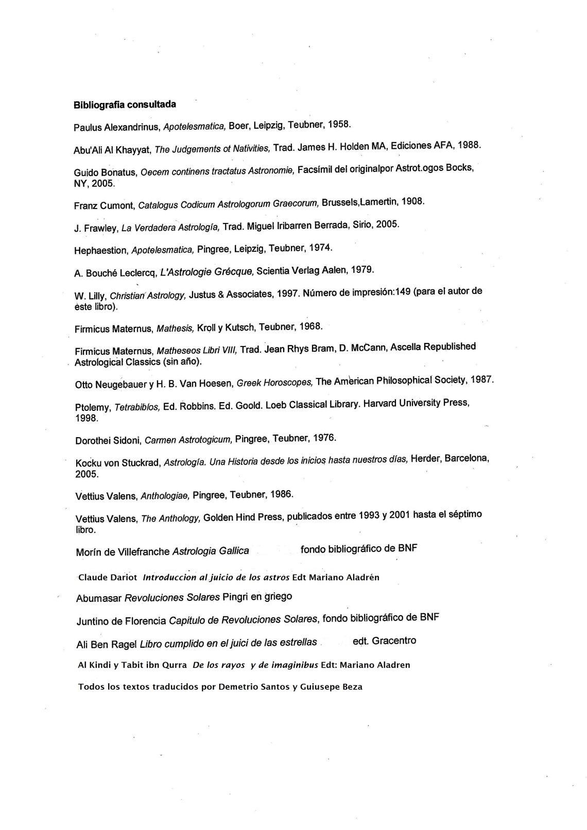 bibliografiaastrrologiaclasica