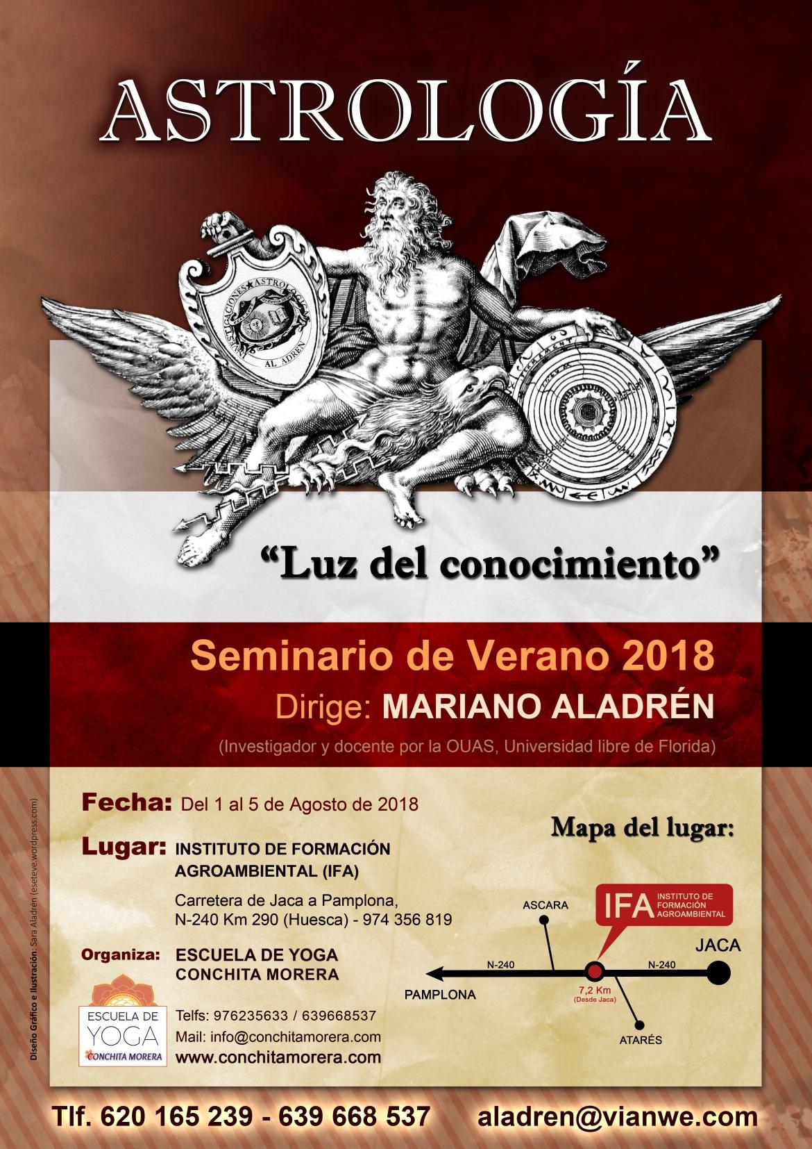 Cartel SEMINARIO DE VERANO - Astrologia Clásica con Mariano Aladrén